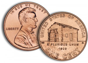 2009 Lincoln Log Cabin Penny - Click to Enlarge