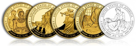 2009 First Spouse Gold Coins (Reverse, Proof Versions) - Click to Enlarge