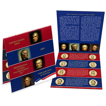 2010-P/&D $1 Presidential Dollar 8-Coin Set Uncirculated Mint State