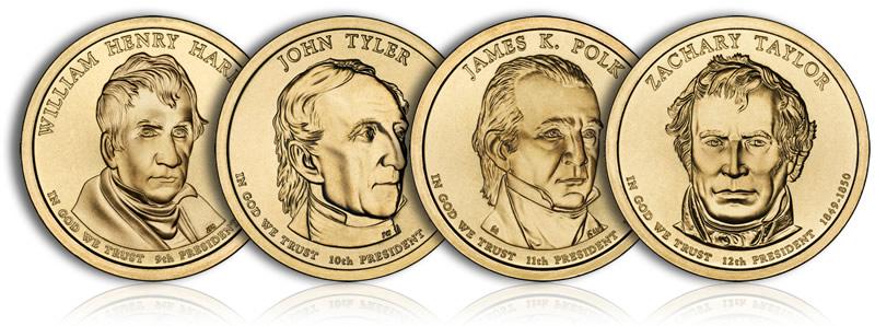 2009 P PRESIDENTIAL DOLLARS SET    ALL 4 PRESIDENTS COIN   PHILADELPHIA
