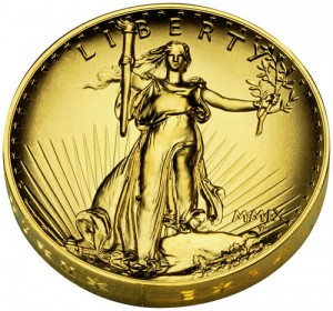 2009 Ultra High Relief Double Eagle Gold Coin (Obverse) - Click to Enlarge