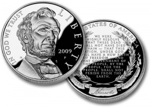 Lincoln Commemorative Proof Silver Coin - Click to Enlarge