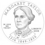Margaret Taylor First Spouse Gold Coin Design