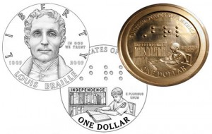 Orginal Braille Silver Dollar Coin Designs and Prototype - Click to Enlarge