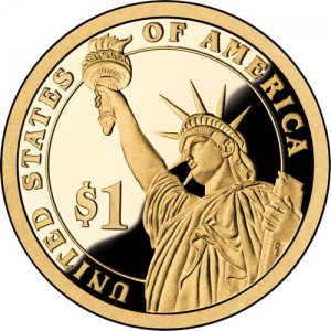 Presidential Dollar Reverse (Proof Version) - Click to Enlarge