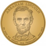 2010 Abraham Lincoln Presidential $1 Coin, Obverse