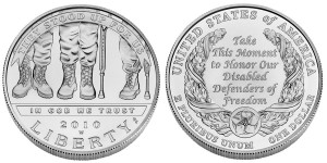 2010 American Veterans Disabled For Life Uncirculated Coin - Click to Enlarge