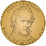 2010 James Buchanan Presidential $1 Coin, Obverse