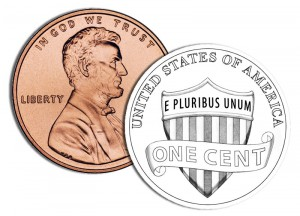 2010 Lincoln Cent (with line-art obverse) - Click to Enlarge