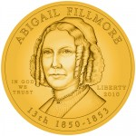 Abigail Fillmore First Spouse Gold Coin line-art Obverse