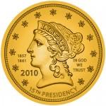 Buchanan Liberty First Spouse Gold Coin Obverse