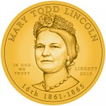 Mary Lincoln First Spouse Gold Coin Obverse