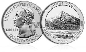 2010 Mount Hood Silver Coin
