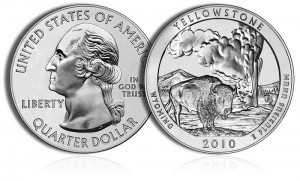 2010 Yellowstone Silver Coin
