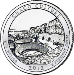 2012 Chaco Culture Silver Coin (associated quarter image shown) (US Mint image)