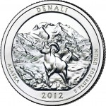 2012 Denali National Park Quarter (US Mint image)