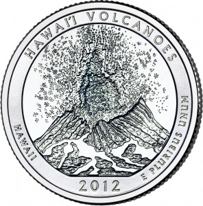 2012 Hawaii Volcanoes National Park Quarter (US Mint image)