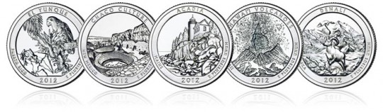 2012 America the Beautiful Quarters (US Mint images)