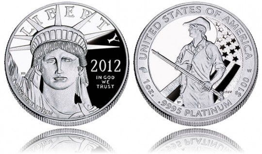 American Platinum Eagle (2012 Proof Coin Shown)