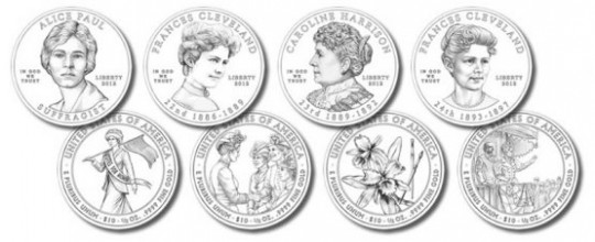 2012 First Spouse Gold Coin Designs