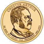2012 Chester Arthur Presidential $1 Coin (US Mint image)
