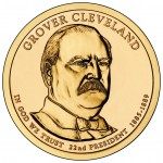 2012 Grover Cleveland (First Term) Presidential $1 Coin (US Mint image)