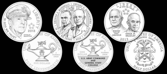 2013 5-Star Generals Commemorative Coins (Line-Art)