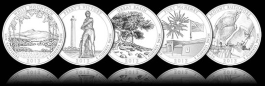 2013 America the Beautiful Quarters Line-Art