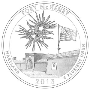 2013 Fort McHenry Silver Coin Line-Art