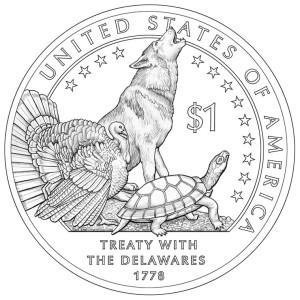 2013 Native American Dollar Reverse (Line-Art)