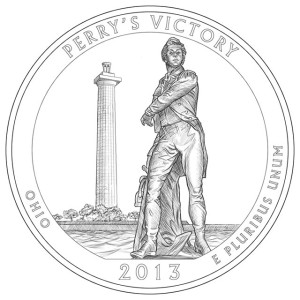 2013 Perry's Victory Silver Coin Line-Art