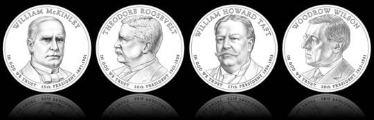 2013 Presidential Dollars (Line-Art)