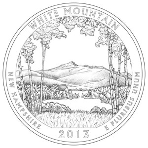 2013 White Mountain Silver Coin Line-Art