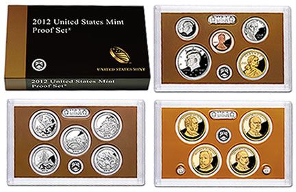 US Mint Proof Set (2012 version shown)